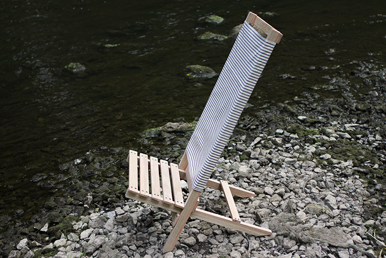 DIY Wooden Camp/Beach Chair @themerrythought