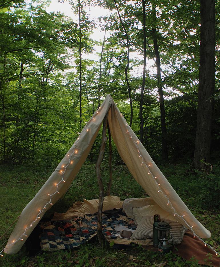 Как сделать палатку на улице своими руками 75