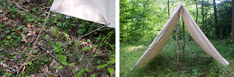 DIY Canvas Tent @themerrythought : canvas tent patterns - memphite.com