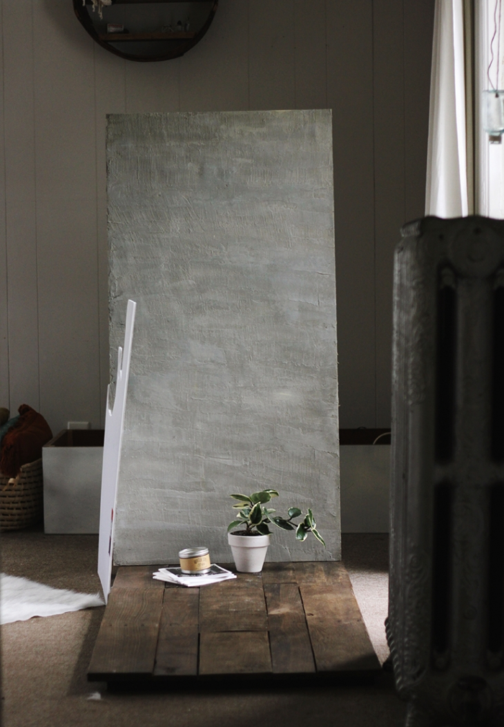 DIY Cement Backdrop @themerrythought