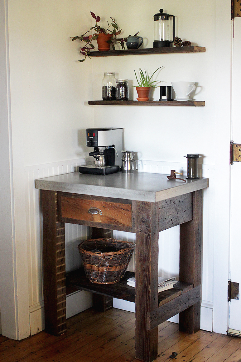 DIY Concrete Top Coffee Bar - The Merrythought