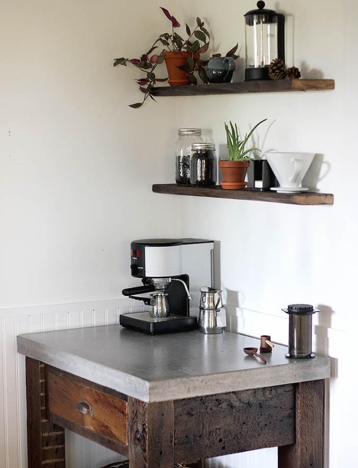 DIY Concrete Top Coffee Bar @themerrythought
