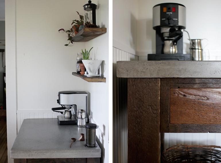 DIY Concrete Top Coffee Bar @themerrythought