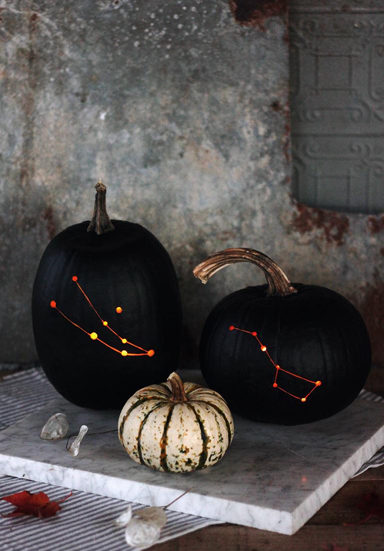 DIY Constellation Pumpkin @themerrythought for @designsponge