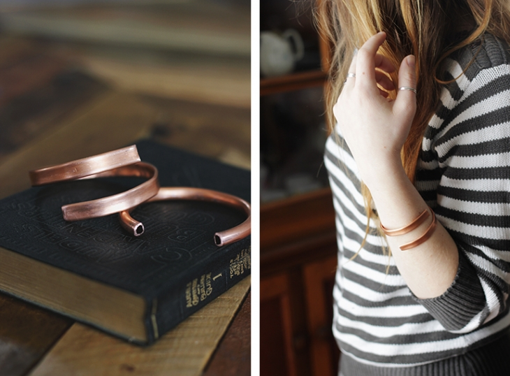 DIY Copper Cuff @themerrythought