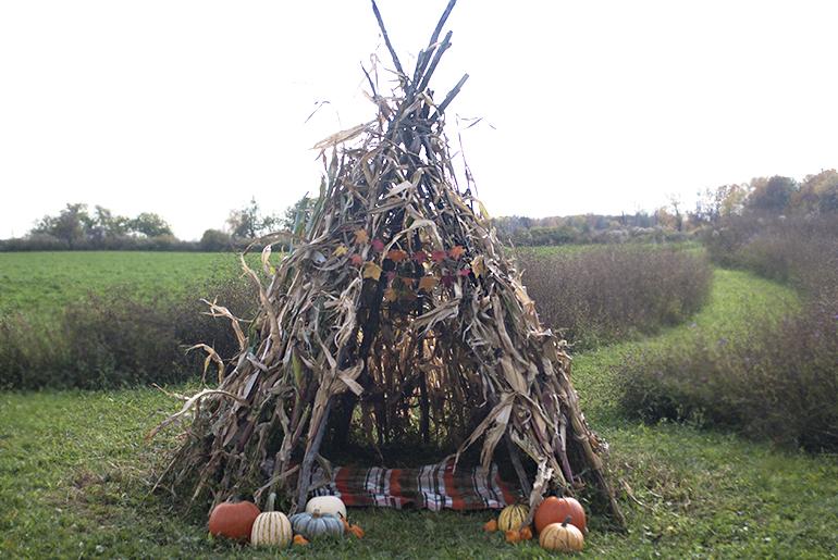 cornstalk teepee via the merrythought