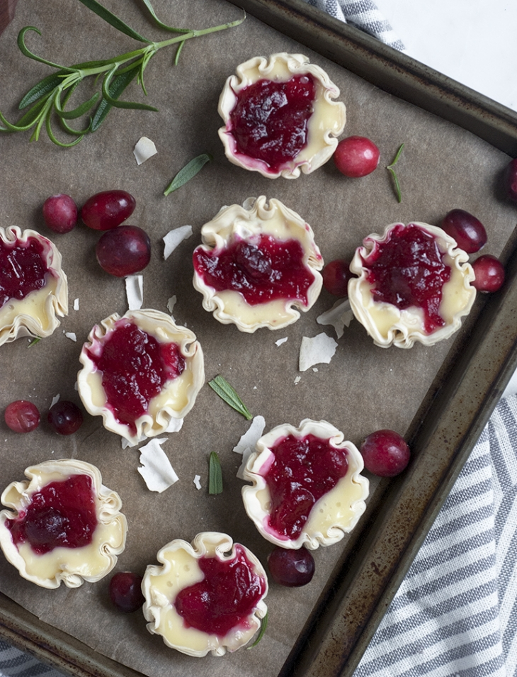 Cranberry Brie Tartlets @themerrythought