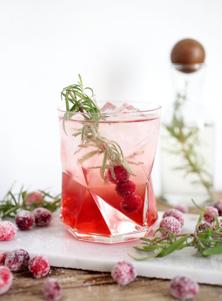 Cranberry Rosemary Spritzer @themerrythought