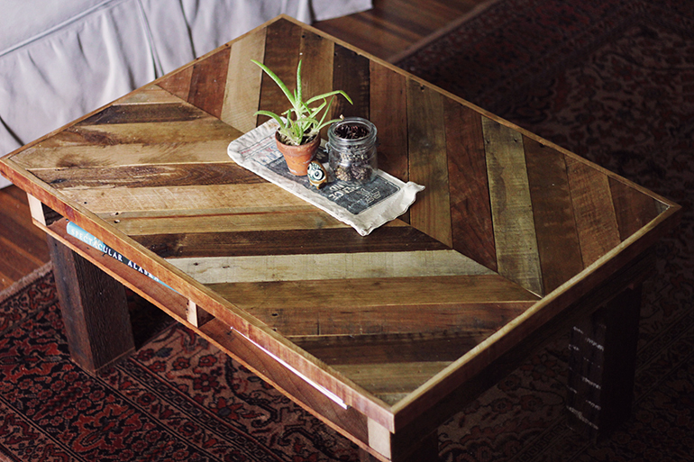make pallet furniture. diy coffee table | the merrythought make Cafe Ideas Table Tops