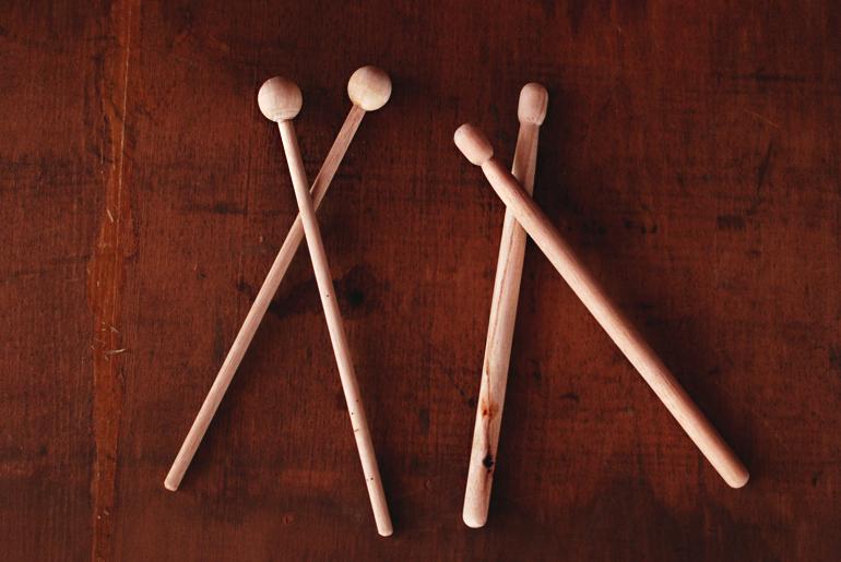 diy cork drum wooden drumsticks the merrythought. Black Bedroom Furniture Sets. Home Design Ideas