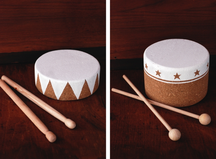 DIY Cork Drums @themerrythought