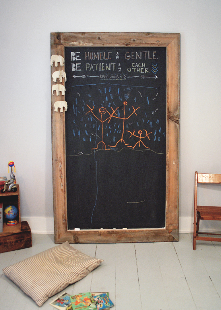 Diy giant chalkboard the merrythought for Diy chalk paint problems