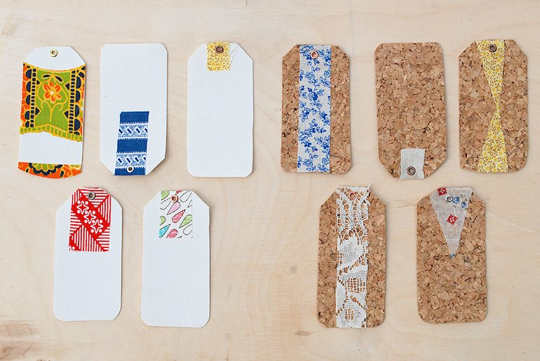 Diy Canvas And Cork Gift Tags The Merrythought