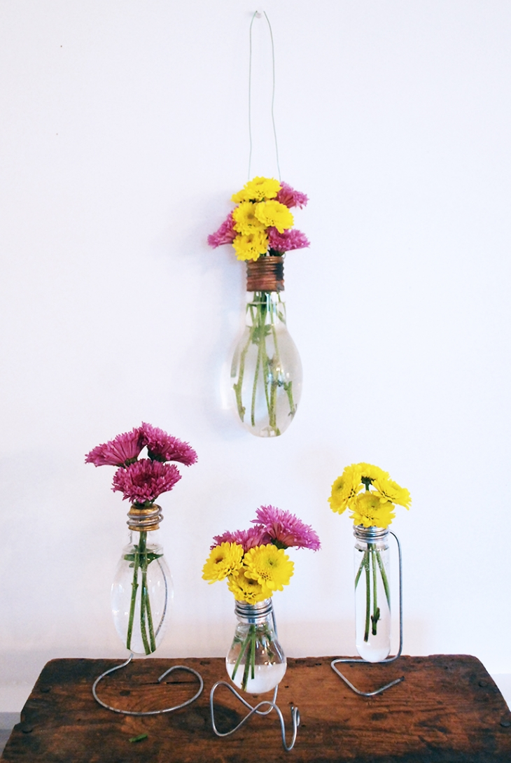 DIY Lightbulb Vase - The Merrythought