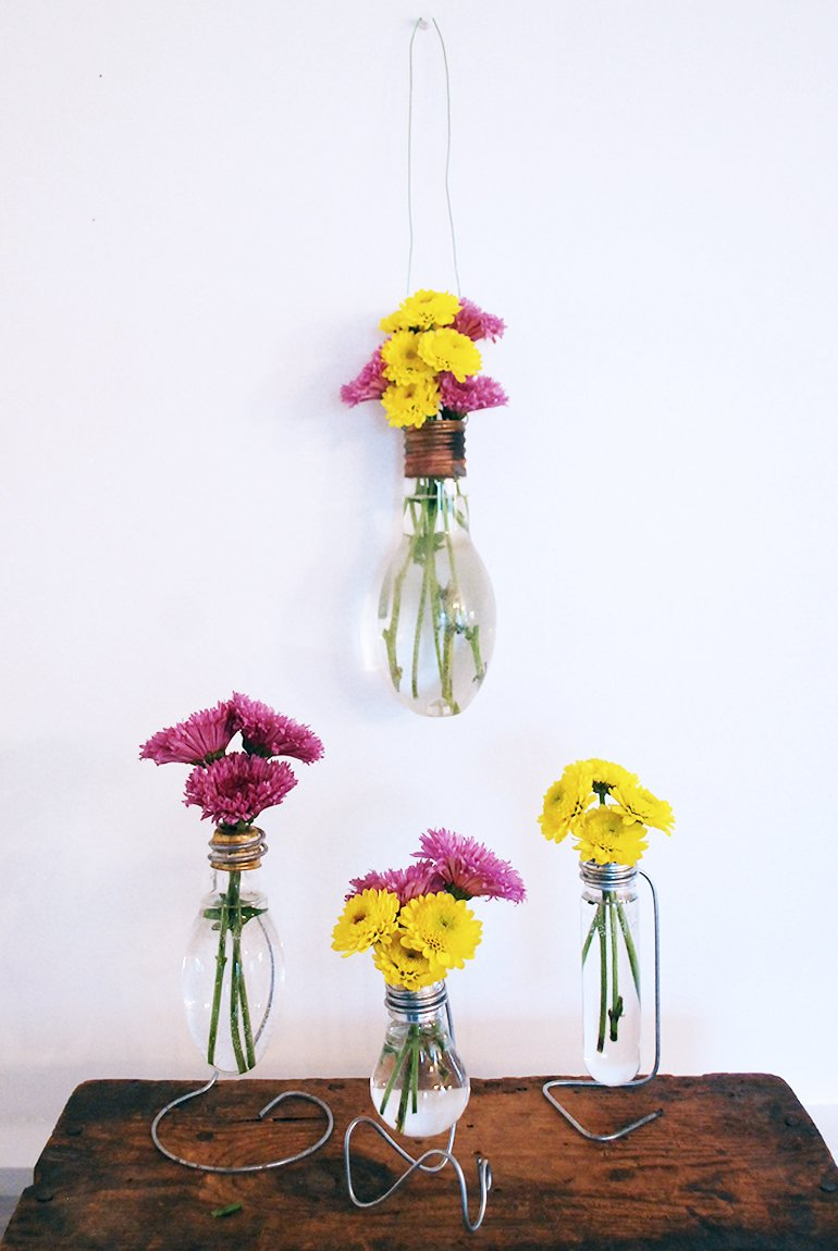 Flower Lights Diy Diy Light Bulb Vase