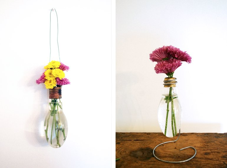DIY Lightbulb Vases - The Merrythought