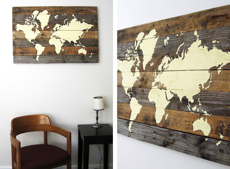 Pallet board world map the merrythought diy pallet board world map the merrythought gumiabroncs Choice Image