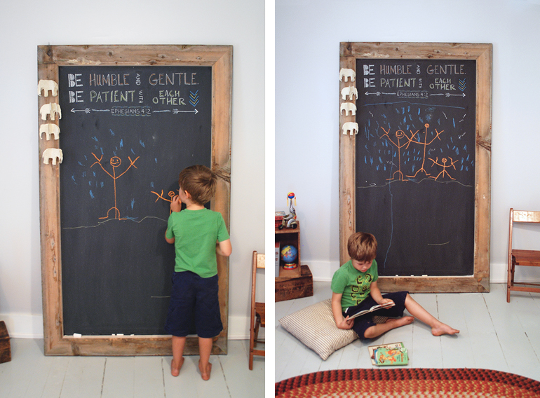 DIY Giant Chalkboard - The Merrythought