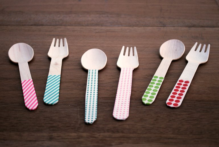 DIY Washi Tape Forks & Spoons | The Merrythought