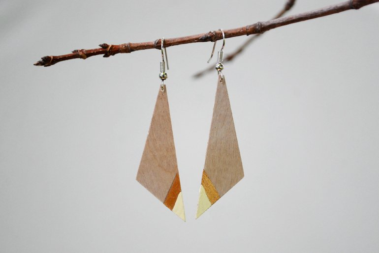 DIY Wood Earrings – Two Ways » The Merrythought