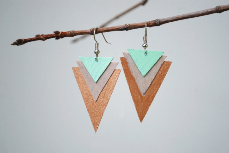 DIY Wood Earrings | The Merrythought