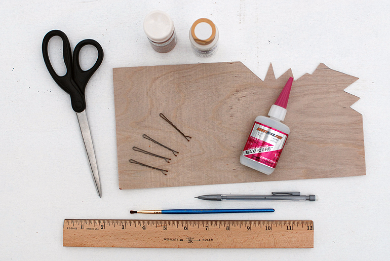 DIY Wooden Triangle Bobby Pins - Supplies
