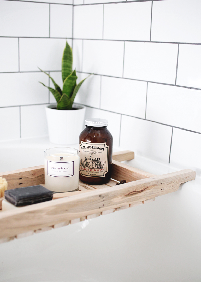 DIY Bathtub Caddy - The Merrythought