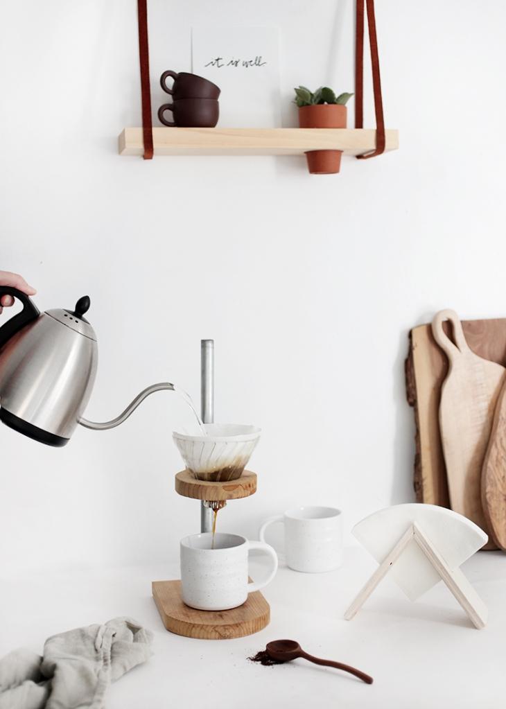 Filtre à café DIY stand @themerrythought