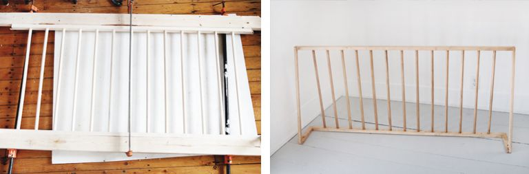 dowel head with clamps and headboard finished