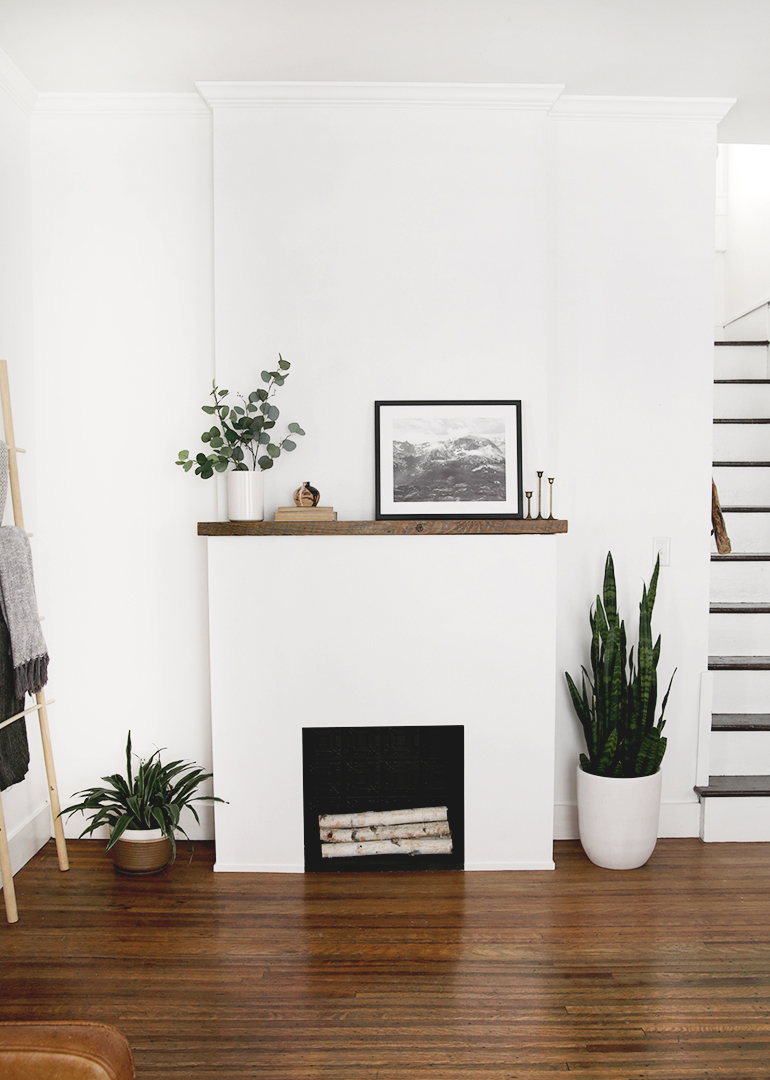 How To Build Movable Fireplace With Electric Insert