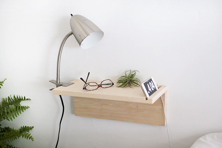 Diy Floating Nightstand The Merrythought