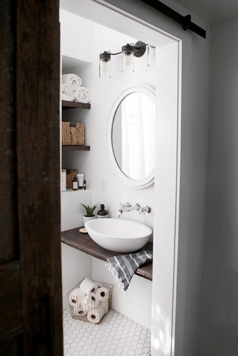 Bon DIY Floating Sink Shelf @themerrythought DIY Floating Sink Shelf  @themerrythought ...