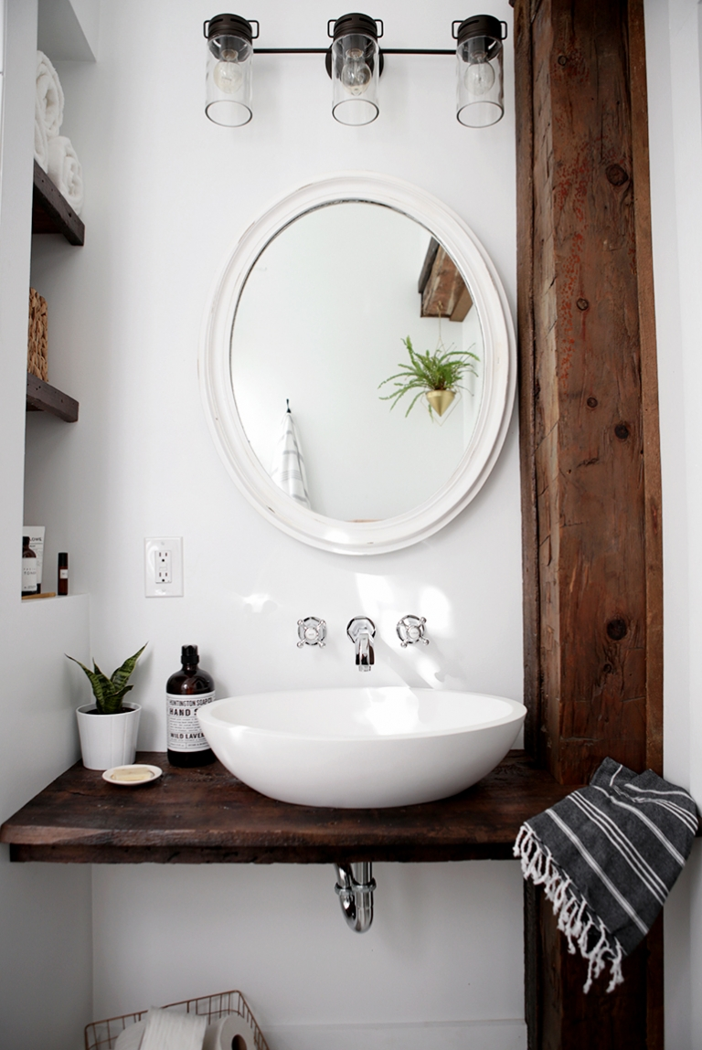 Diy Floating Sink Shelf Themerrythought