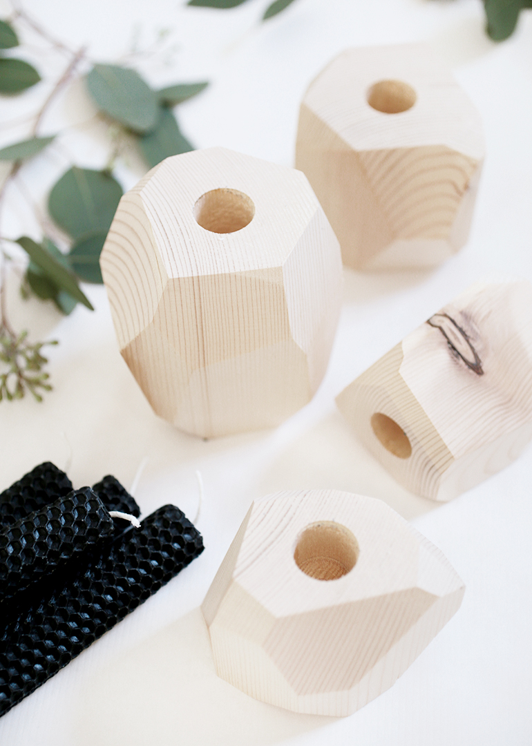 DIY Geometric Advent Candle Holders @themerrythought