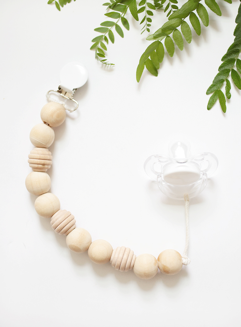 Diy Wood Bead Pacifier Clip The Merrythought