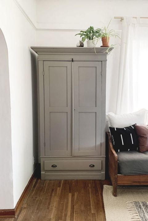Painted Antique Cabinet | Before & After