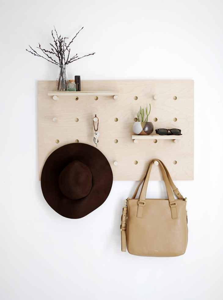 DIY Pegboard Wall Organizer @themerrythought