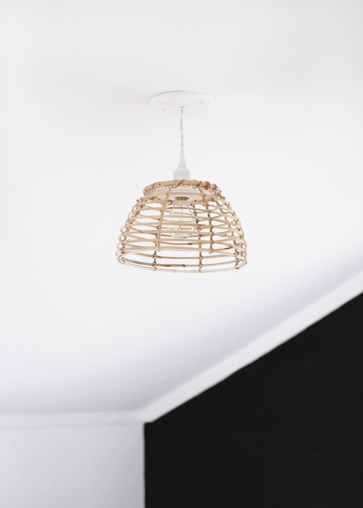 DIY Rattan Light @themerrythought