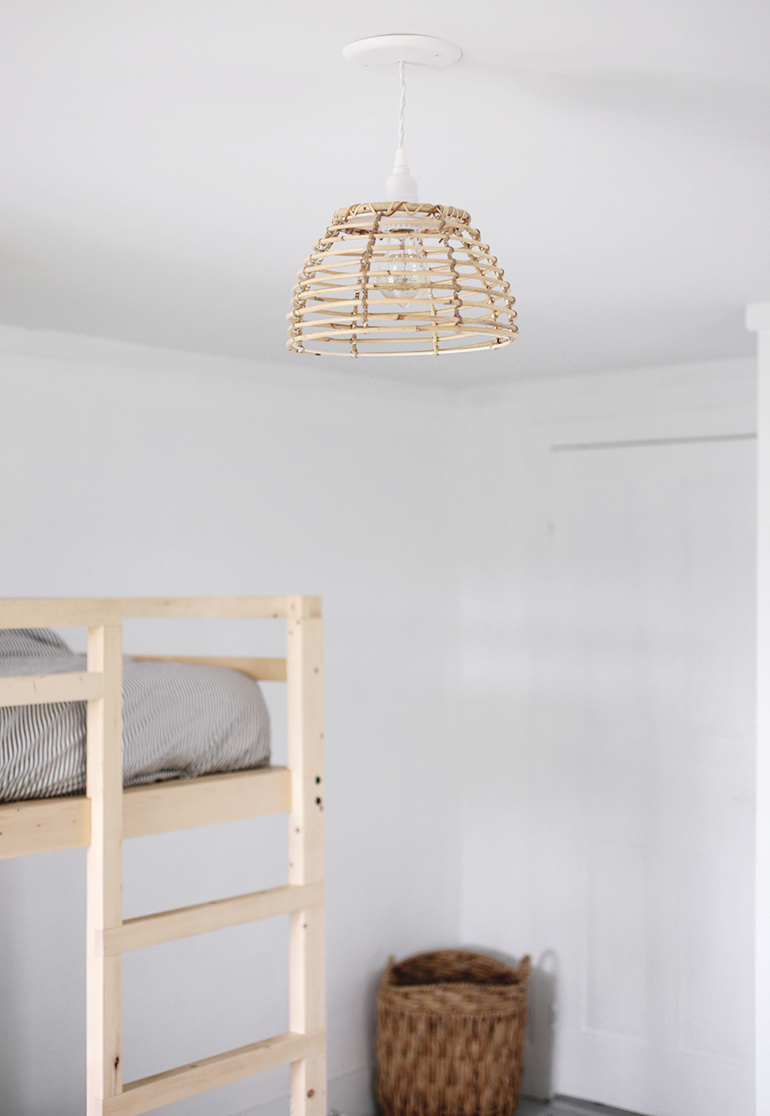 DIY Rattan Light @themerrythought