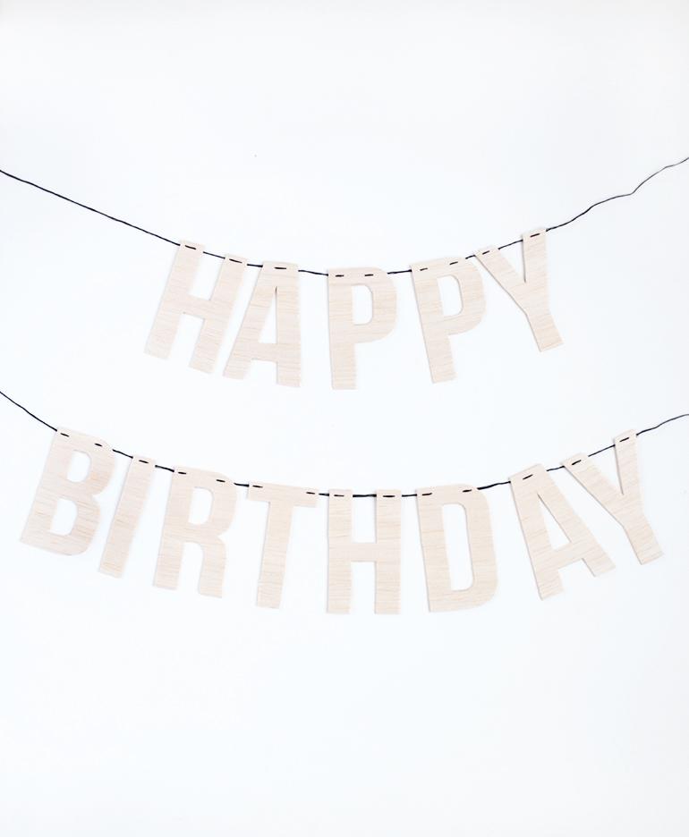 DIY Wood Letter Birthday Garland