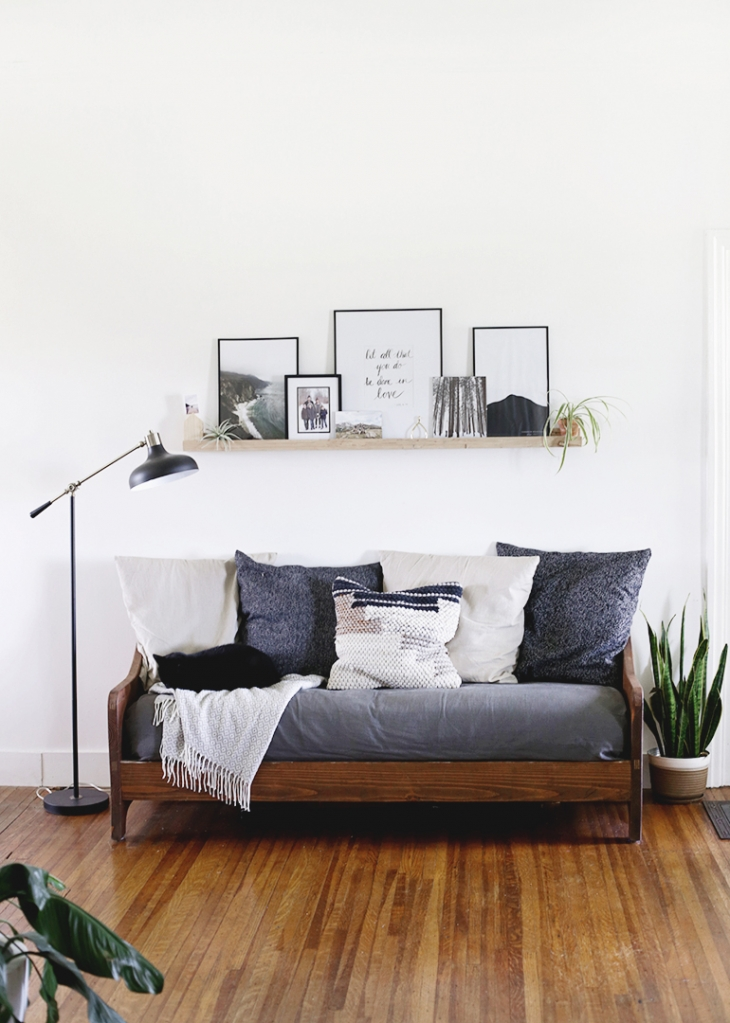 DIY Wood Sofa @themerrythought