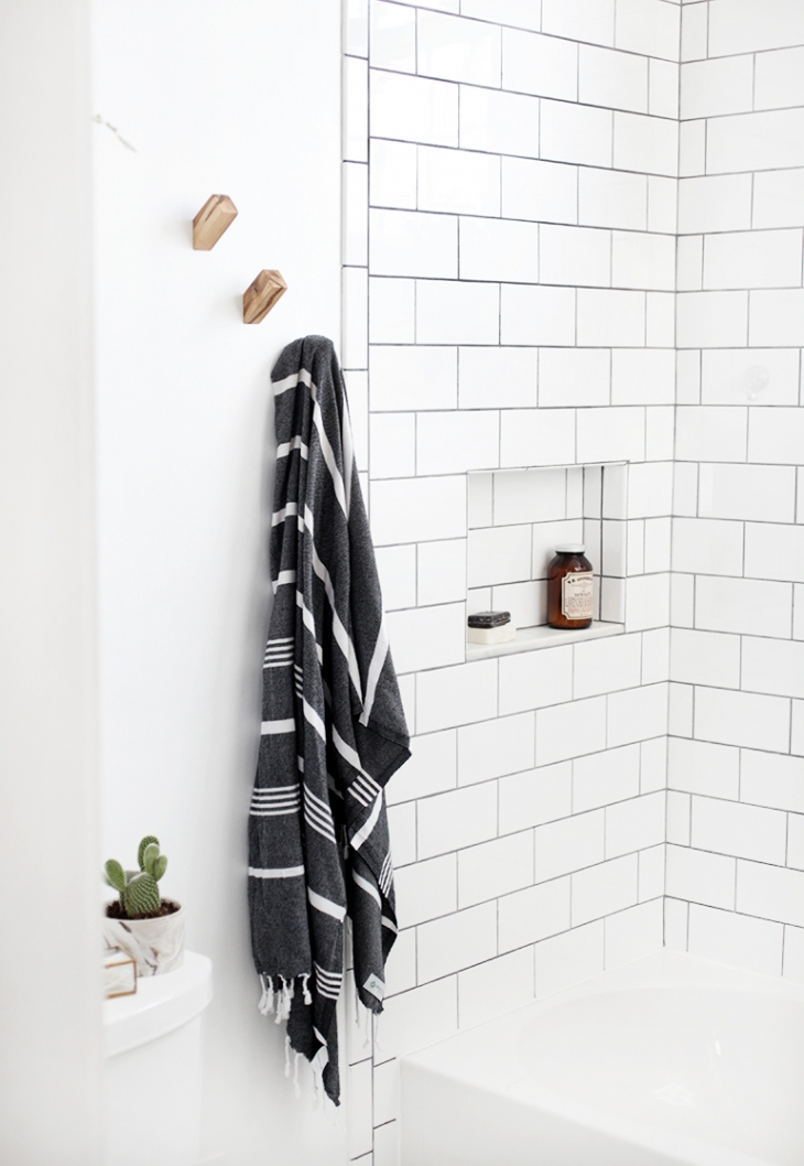 towel hooks. DIY Wood Wall Hooks @themerrythought Towel S