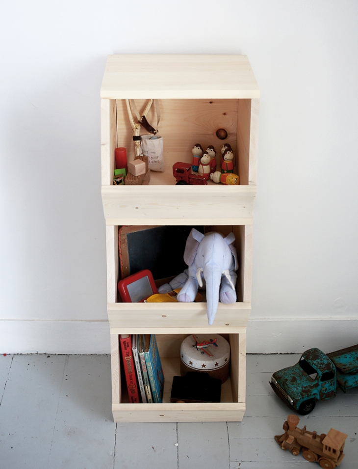 DIY Wooden Toy Bins @themerrythought