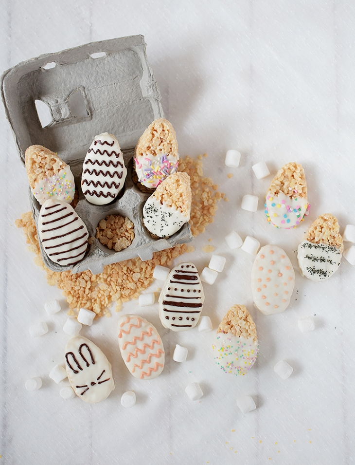 Easter Egg Crispy Treats @themerrythought