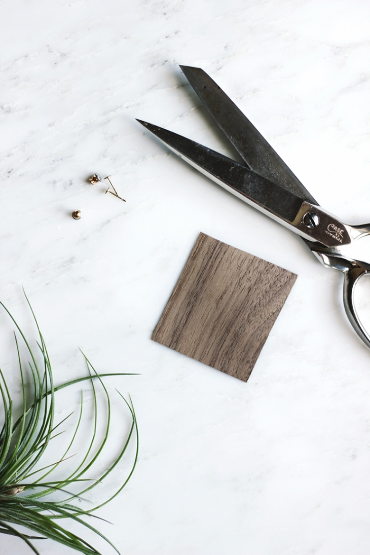 DIY Wooden Earrings @themerrythought