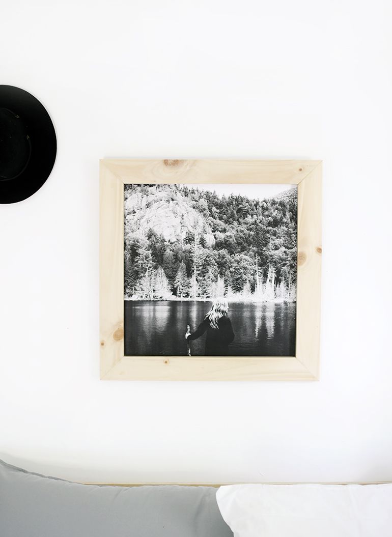 DIY Easy Wooden Frame @themerrythought