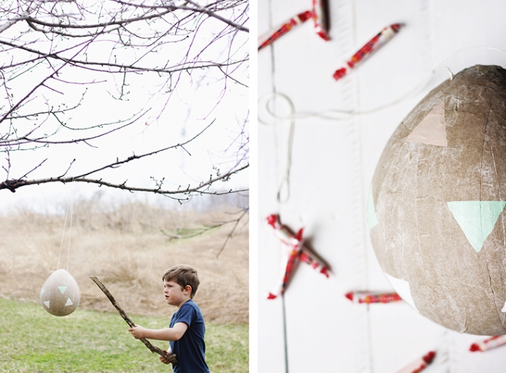 DIY Kraft Paper Easter Egg Piñata @themerrythought