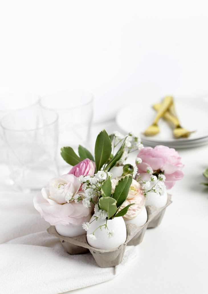 Vase bricolage Egg Centerpiece @themerrythought