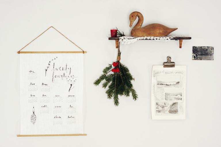 DIY Linen Calendar @themerrythought
