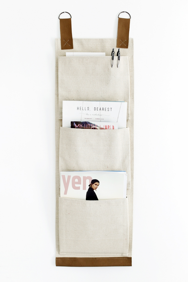 DIY Canvas Wall Pockets @themerrythought